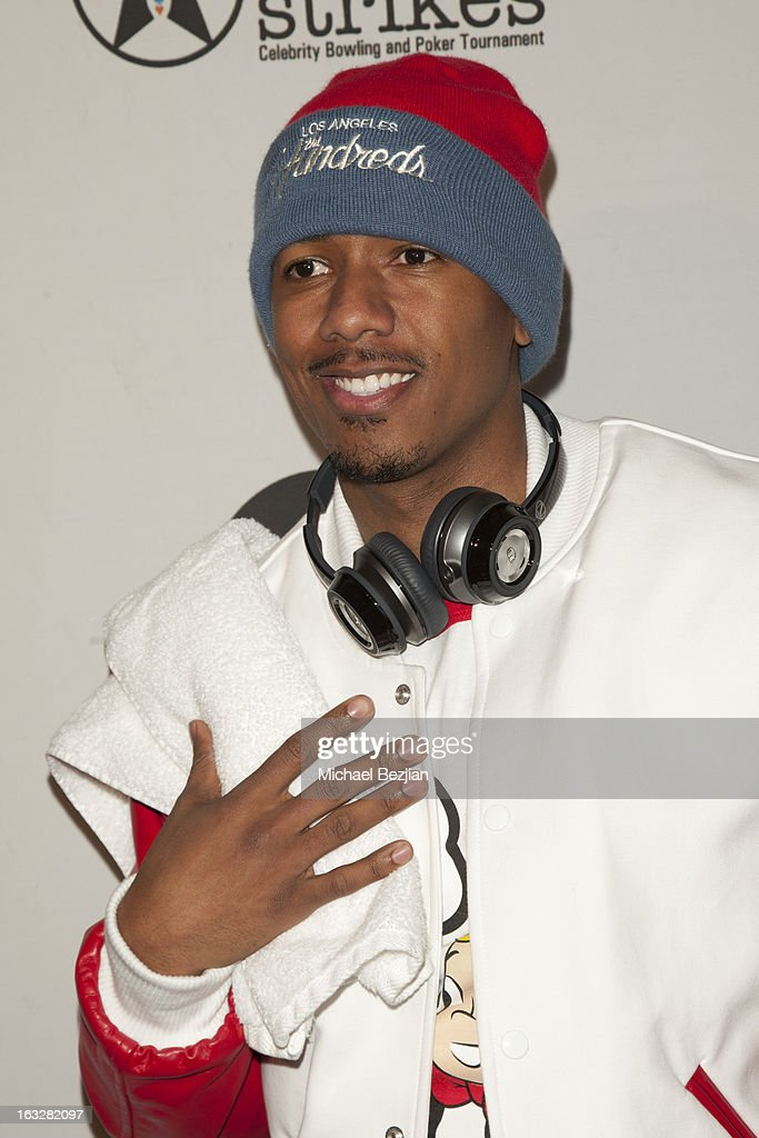 Nick Cannon attends 7th Annual 'Stars & Strikes' Celebrity Bowling And Poker Tournament Benefiting A Place Called Home at PINZ Bowling & Entertainment Center on March 6, 2013 in Studio City, California.