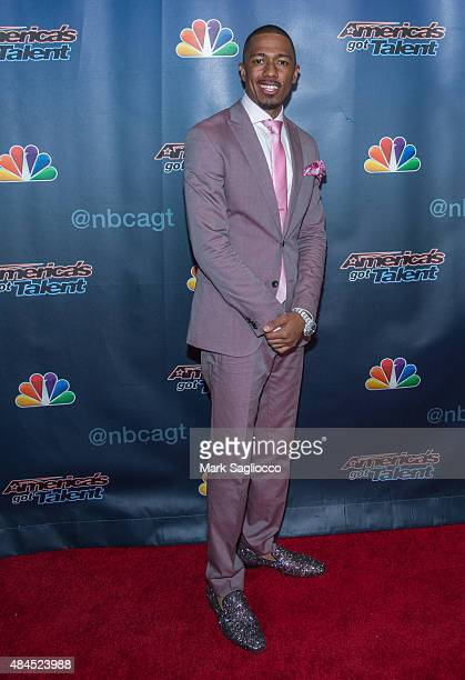 Nick Cannon attends 'America's Got Talent' Post Show Red Carpet at Radio City Music Hall on August 19 2015 in New York City