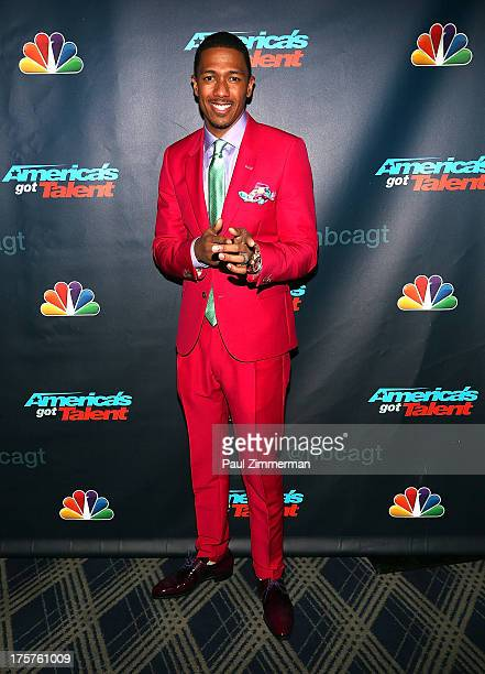 Nick Cannon attends 'America's Got Talent' Season 8 Red Carpet Event at Radio City Music Hall on August 7 2013 in New York City