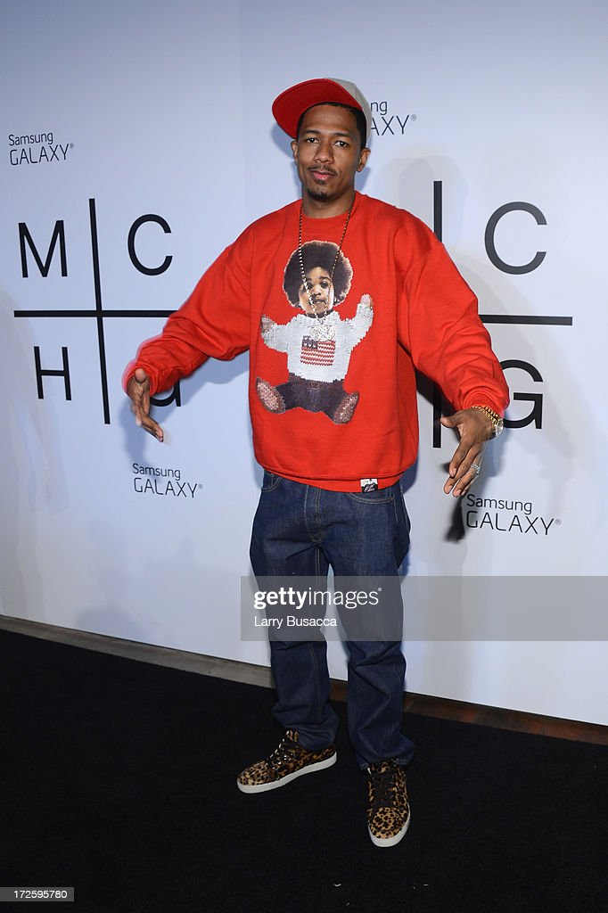 <a gi-track='captionPersonalityLinkClicked' href=/galleries/search?phrase=Nick+Cannon&family=editorial&specificpeople=202208 ng-click='$event.stopPropagation()'>Nick Cannon</a> attends JAY Z and Samsung Mobile's celebration of the Magna Carta Holy Grail album, available now through a customized app in Google Play and Samsung Apps exclusively for Samsung Galaxy S 4, Galaxy S III and Note II users on July 3, 2013 in Brooklyn City.