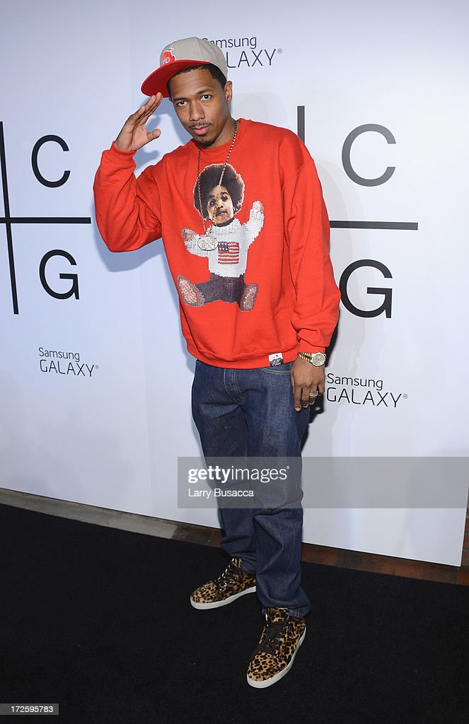 Nick Cannon attends JAY Z and Samsung Mobile's celebration of the Magna Carta Holy Grail album, available now through a customized app in Google Play and Samsung Apps exclusively for Samsung Galaxy S 4, Galaxy S III and Note II users on July 3, 2013 in Brooklyn City.