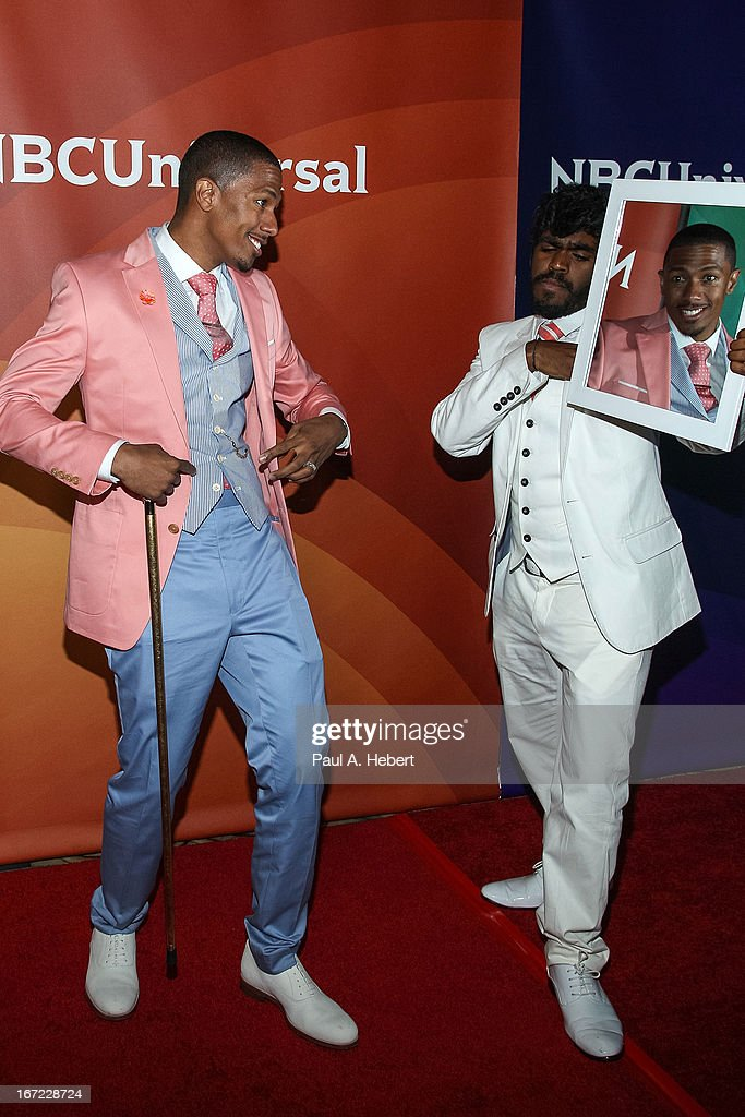 <a gi-track='captionPersonalityLinkClicked' href=/galleries/search?phrase=Nick+Cannon&family=editorial&specificpeople=202208 ng-click='$event.stopPropagation()'>Nick Cannon</a> attends the 2013 NBCUniversal Summer Press Day held at The Langham Huntington Hotel and Spa on April 22, 2013 in Pasadena, California.