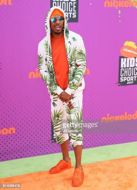 Nick Cannon attends the 2017 Nickelodeon Kids' Choice Sports Awards at Pauley Pavilion on July 13 2017 in Los Angeles California