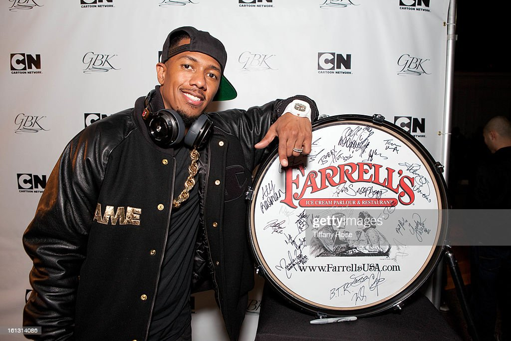 Nick Cannon attends the GBK & Cartoon Network's Official Backstage Thank You Lounge at Barker Hangar on February 9, 2013 in Santa Monica, California.