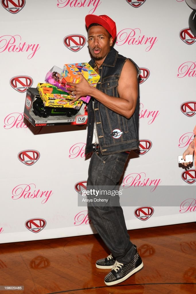 <a gi-track='captionPersonalityLinkClicked' href=/galleries/search?phrase=Nick+Cannon&family=editorial&specificpeople=202208 ng-click='$event.stopPropagation()'>Nick Cannon</a> attends the Pastry Shoes Presents 'Skate & Donate' event at Moonlight Rollerway on December 8, 2012 in Glendale, California.