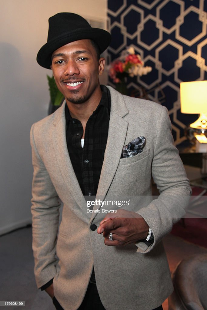 <a gi-track='captionPersonalityLinkClicked' href=/galleries/search?phrase=Nick+Cannon&family=editorial&specificpeople=202208 ng-click='$event.stopPropagation()'>Nick Cannon</a> attends The Samsung Galaxy Blue Room at Mercedes-Benz Fashion Week Spring 2014 Collections - Day 1 at Lincoln Center on September 5, 2013 in New York City.
