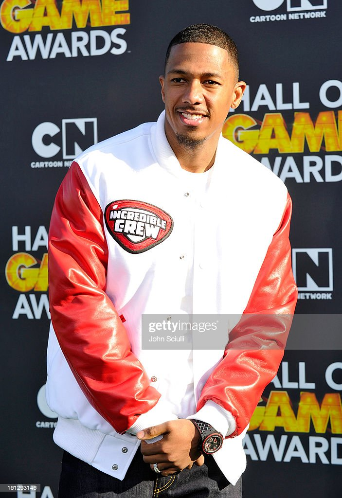 <a gi-track='captionPersonalityLinkClicked' href=/galleries/search?phrase=Nick+Cannon&family=editorial&specificpeople=202208 ng-click='$event.stopPropagation()'>Nick Cannon</a> attends the Third Annual Hall of Game Awards hosted by Cartoon Network at Barker Hangar on February 9, 2013 in Santa Monica, California.