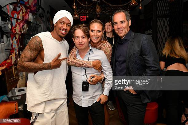 Nick Cannon Charlie Walk Heidi Klum and CEO of Republic Records Monte Lipman attend a celebration with Republic Records and Guess after the 2016 MTV...