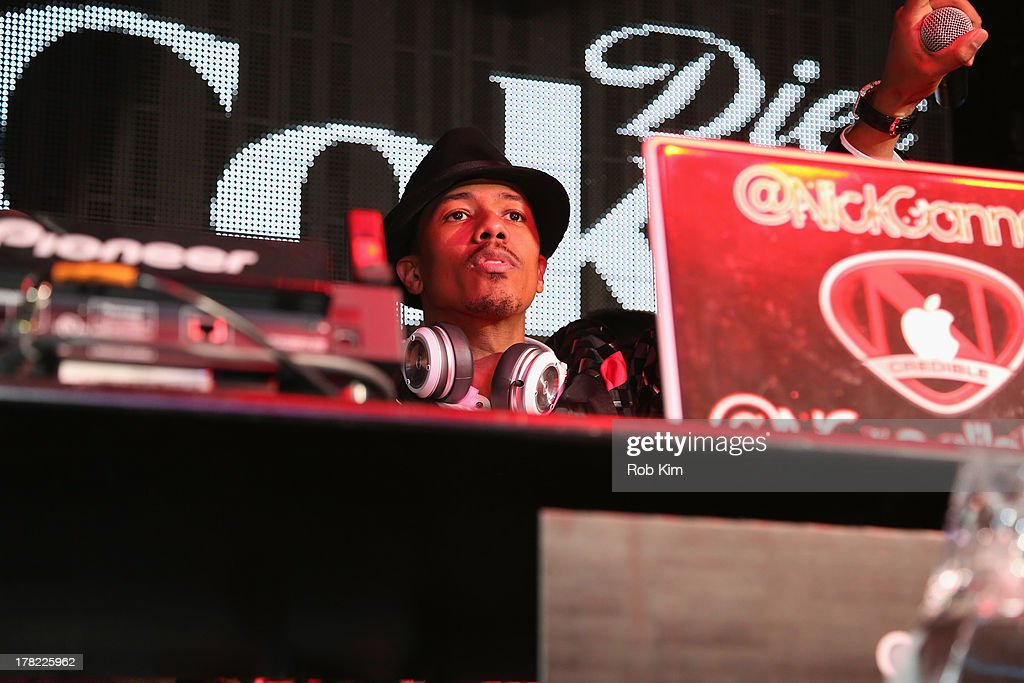 <a gi-track='captionPersonalityLinkClicked' href=/galleries/search?phrase=Nick+Cannon&family=editorial&specificpeople=202208 ng-click='$event.stopPropagation()'>Nick Cannon</a> DJs at Intouch Weekly's 'ICONS & IDOLS Party' on August 25, 2013 in New York, United States.