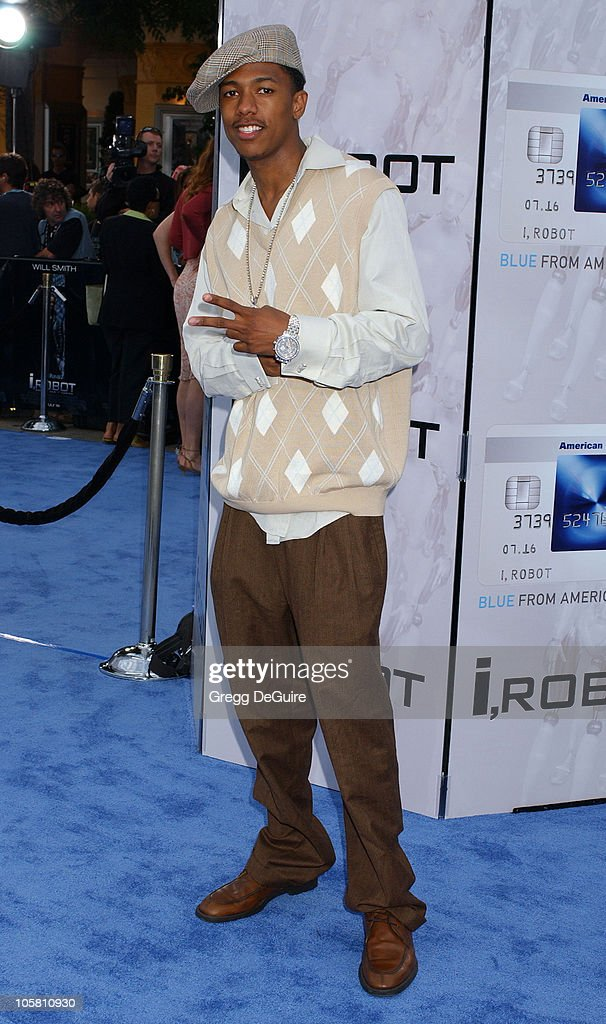 <a gi-track='captionPersonalityLinkClicked' href=/galleries/search?phrase=Nick+Cannon&family=editorial&specificpeople=202208 ng-click='$event.stopPropagation()'>Nick Cannon</a> during 'I, ROBOT' World Premiere - Arrivals at Mann Village Theatre in Westwood, California, United States.