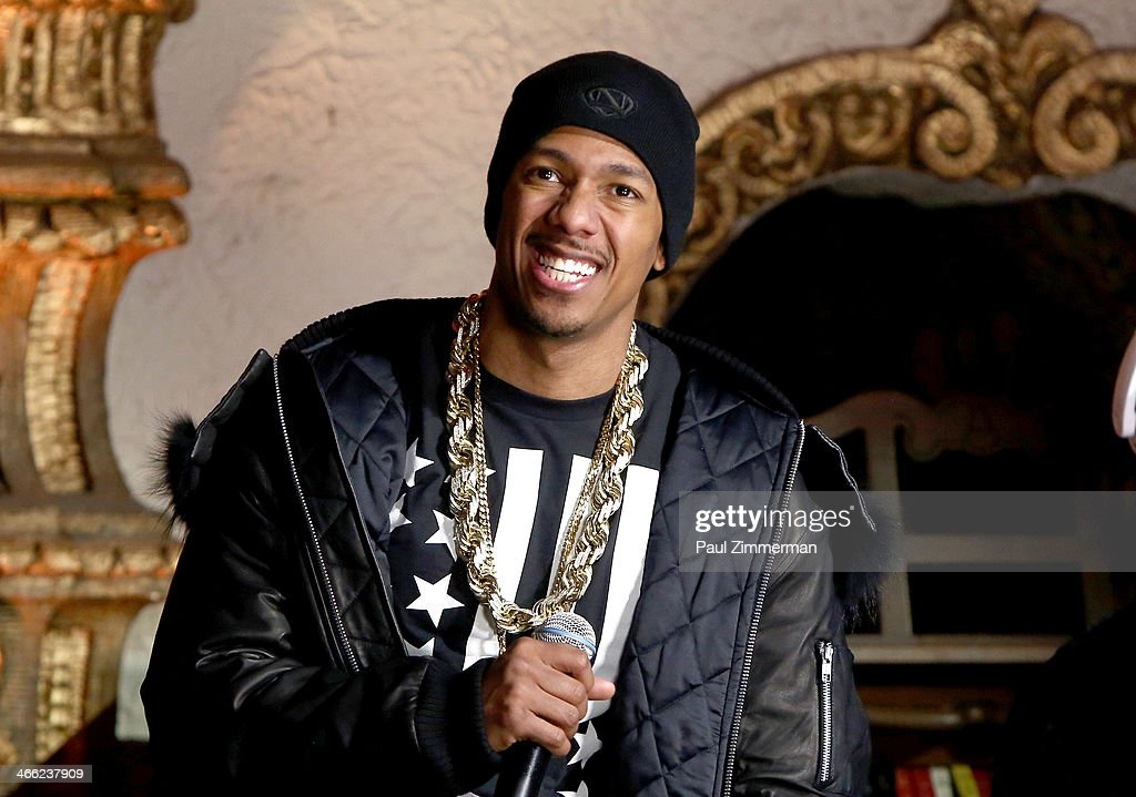 <a gi-track='captionPersonalityLinkClicked' href=/galleries/search?phrase=Nick+Cannon&family=editorial&specificpeople=202208 ng-click='$event.stopPropagation()'>Nick Cannon</a> performs during VH1's 'Super Bowl Blitz: Six Nights + Six Concerts' at St. George Theatre on January 31, 2014 in the Staten Island borough of New York City.