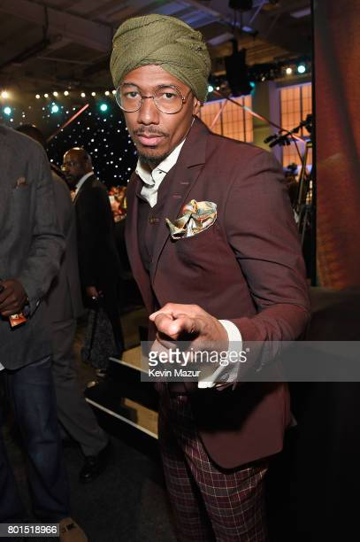 Nick Cannon poses during the 2017 NBA Awards Live on TNT on June 26 2017 in New York New York 27111_002