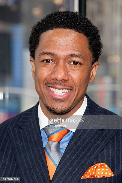 Nick Cannon visits 'Extra' at their New York studios at HM in Times Square on March 28 2016 in New York City