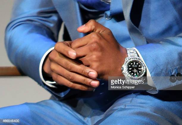 Nick Cannon watch detail speaks at Apple Store Soho Presents Meet The Author Nick Cannon 'Neon Aliens Ate My Homework' at Apple Store Soho on March...
