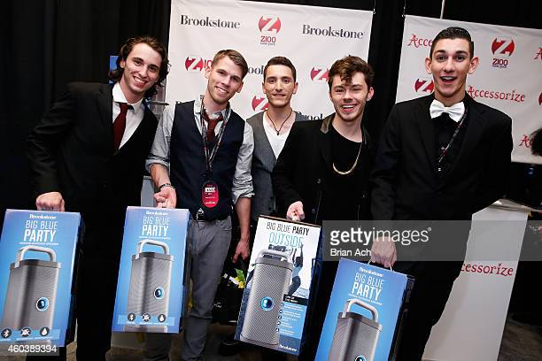 Nick Cardona Lenny Morales Nick Yurisak Joseph Mastando and Tyler O'Leary of Pros iCons attend the Z100's Artist Gift Lounge presented by Goldfish...