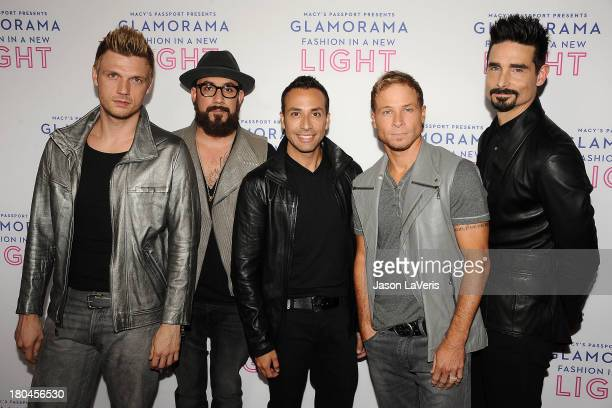 Nick Carter A J McLean Howie Dorough Brian Littrell and Kevin Richardson of the Backstreet Boys attend Macy's Passport presents Glamorama at Orpheum...