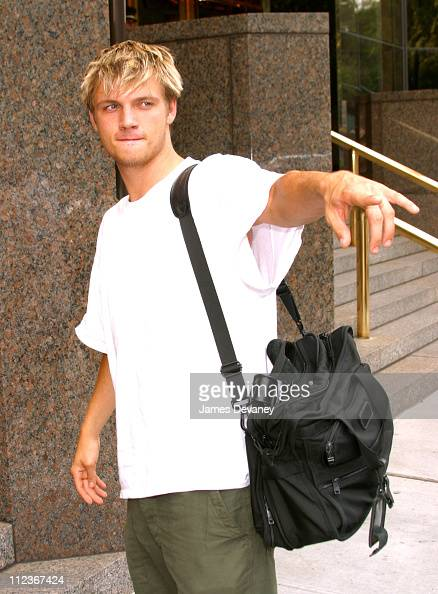 Nick Carter during Nick Carter Sighting on Streets of Manhattan at Manhattan in New York City New York United States