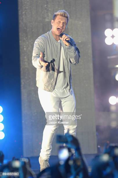 Nick Carter from Back Street Boys performs on stage during iHeartSummer '17 Weekend hosted by ATT at Fontainebleau Miami Beach on June 10 2017 in...