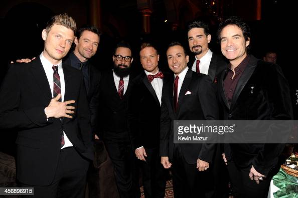 Nick Carter Hugh Jackman AJ McLean Brian Littrell Howie Dorough Kevin Richardson and Patrick Monahan attend TNT Christmas in Washington 2013 at the...
