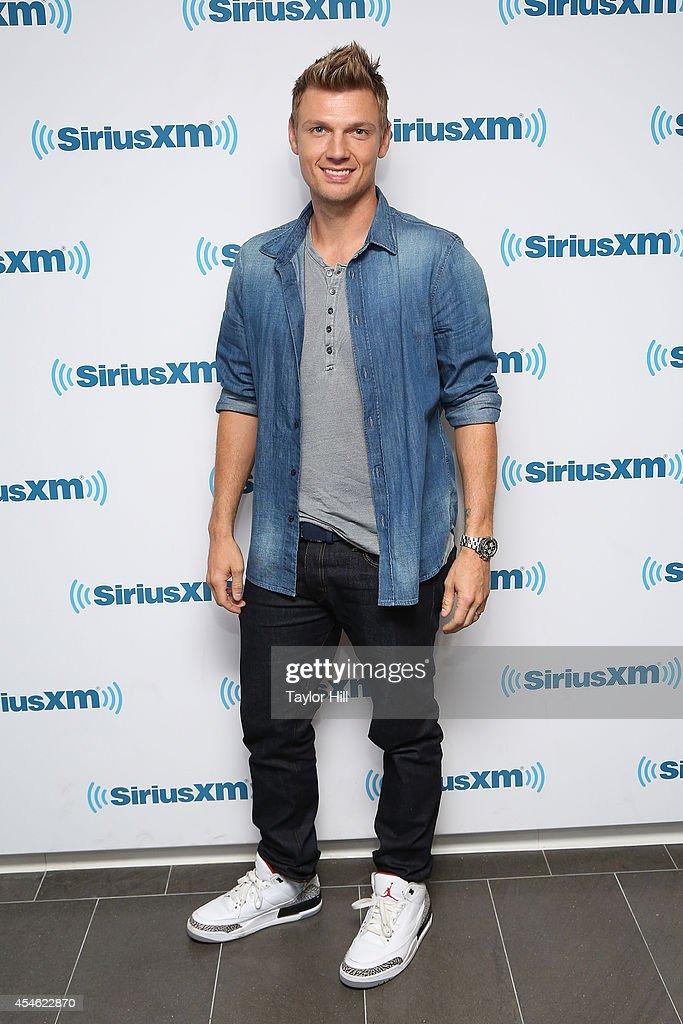 Nick Carter of Backstreet Boys visits the SiriusXM Studios on September 4 2014 in New York City