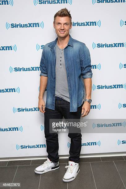 Nick Carter of Backstreet Boys visits the SiriusXM Studios on September 4 2014 in New York City