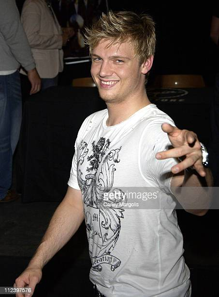 Nick Carter of The Backstreet Boys during Backstreet Boys Sign Their Album 'Never Gone' at Virgin Megastore in New York City June 14 2005 at Virgin...
