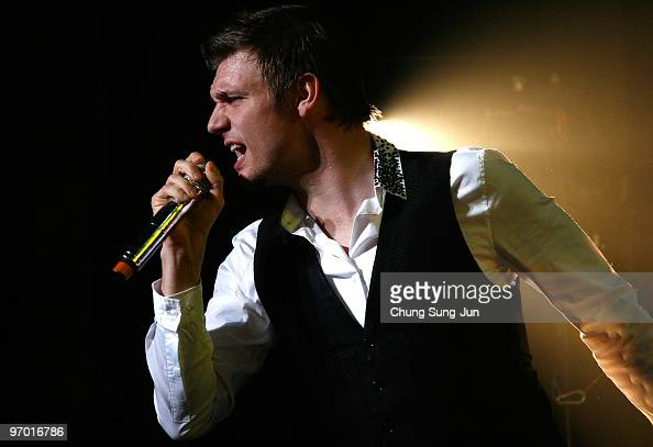 Nick Carter of the Backstreet Boys onstage at AXhall on February 24 2010 in Seoul South Korea