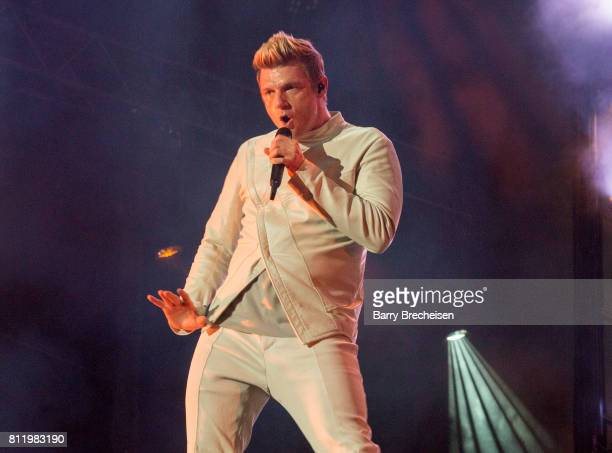 Nick Carter of the Backstreet Boys performs during the 2017 Festival d'ete de Quebec on July 9 2017 in Quebec City Canada