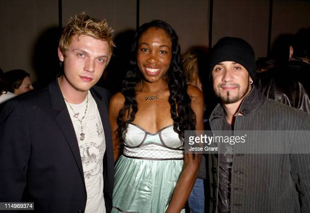 Nick Carter Venus Williams and AJ McLean during GRAMMY Style Studio Launch February 9 2005 at Ocean Way Recording Studios in Hollywood CA United...