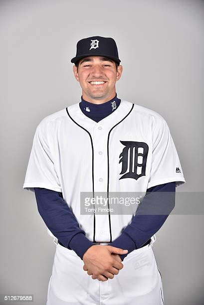 Nick Castellanos of the Detroit Tigers poses during Photo Day on Saturday February 27 2016 at Joker Marchant Stadium in Lakeland Florida