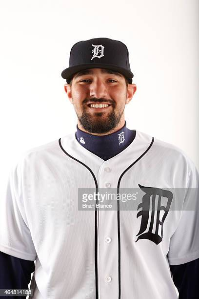 Nick Castellanos of the Detroit Tigers poses for a photo during the Tigers' photo day on February 28 2015 at Joker Marchant Stadium in Lakeland...
