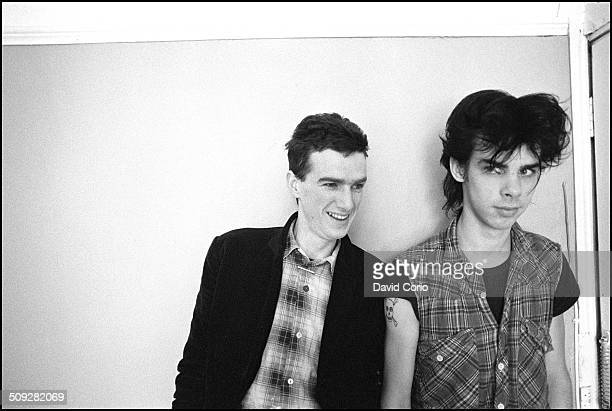 Nick Cave and Mick Harvey of the Birthday Party in a Bayswater squat London UK on 17 May 1981