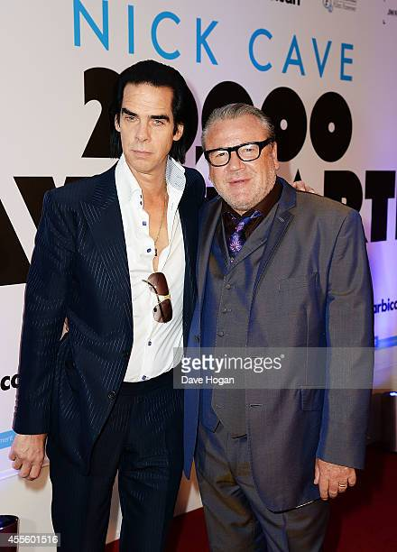 Nick Cave and Ray Winstone attend the '20000 Days on Earth' Gala preview screening at Barbican Centre on September 17 2014 in London England