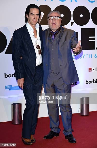 Nick Cave and Ray Winstone attend the '20000 Days on Earth' screening at Barbican Centre on September 17 2014 in London England
