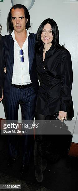 Nick Cave and Susie Bick arrive at the Glenfiddich Mojo Honours List 2011 awards ceremony at The Brewery on July 21 2011 in London England