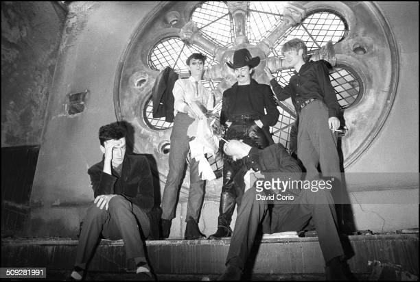 Nick Cave and the Birthday Party in disused church in Kilburn London UK on 22 October 1981