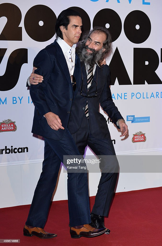 Nick Cave and Warren Ellis attend the '20000 Days on Earth' screening at Barbican Centre on September 17 2014 in London England