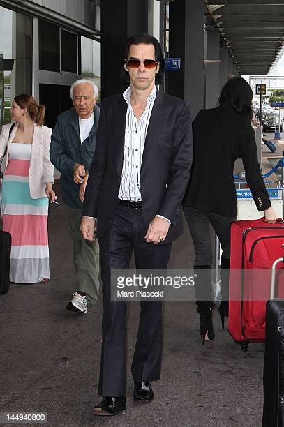 Nick Cave arrives at Nice airport on May 21 2012 in Nice France