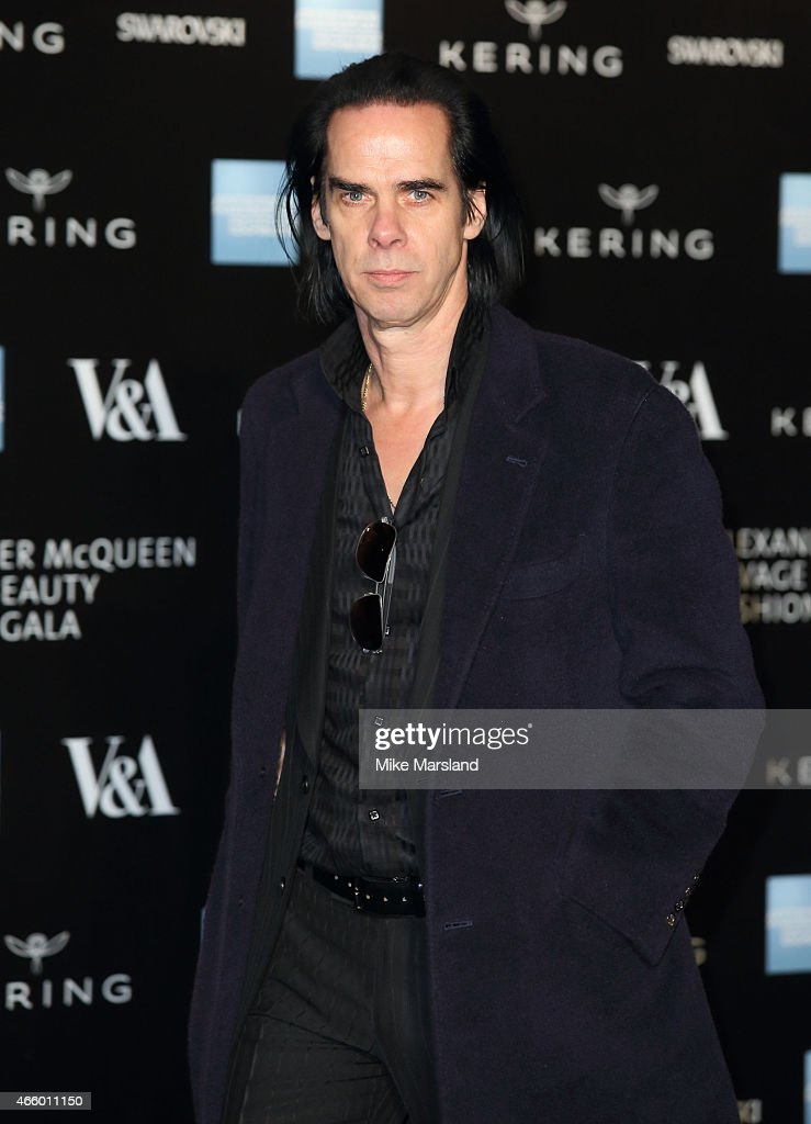 Nick Cave attends a private view for the 'Alexander McQueen Savage Beauty' exhibition at Victoria Albert Museum on March 12 2015 in London England