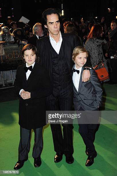 Nick Cave attends a royal film performance of 'The Hobbit An Unexpected Journey' at The Empire Leicester Square on December 12 2012 in London England