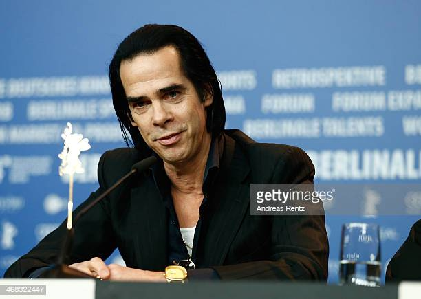 Nick Cave attends the '20000 Days on Earth' press conference during 64th Berlinale International Film Festival at Grand Hyatt Hotel on February 10...