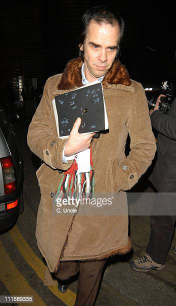 Nick Cave during Kate Moss and Shane McGowan Sighting in London March 10 2005 at Westbourne Studios in London
