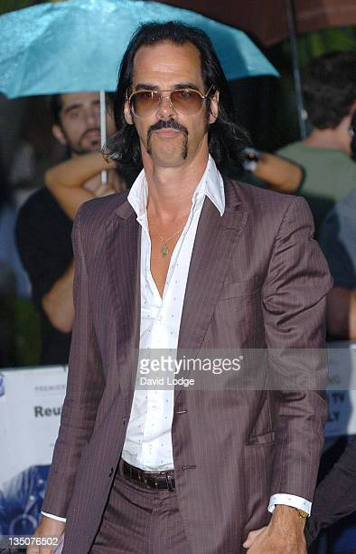 Nick Cave during 'Miami Vice' London Premiere Outside Arrivals at Odeon Leicester Square in London Great Britain
