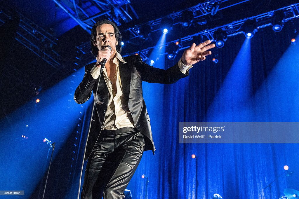 Nick Cave of Nick Cave The Bad Seeds performs at Le Zenith on November 19 2013 in Paris France