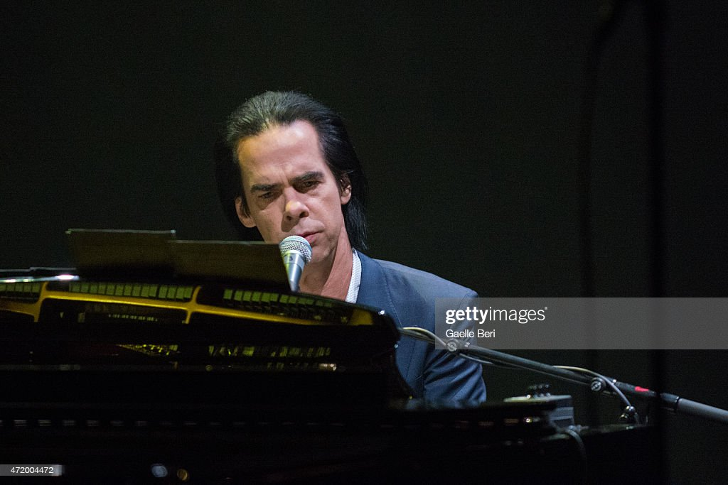 Nick Cave performs on stage at Eventim Apollo on May 2 2015 in London United Kingdom