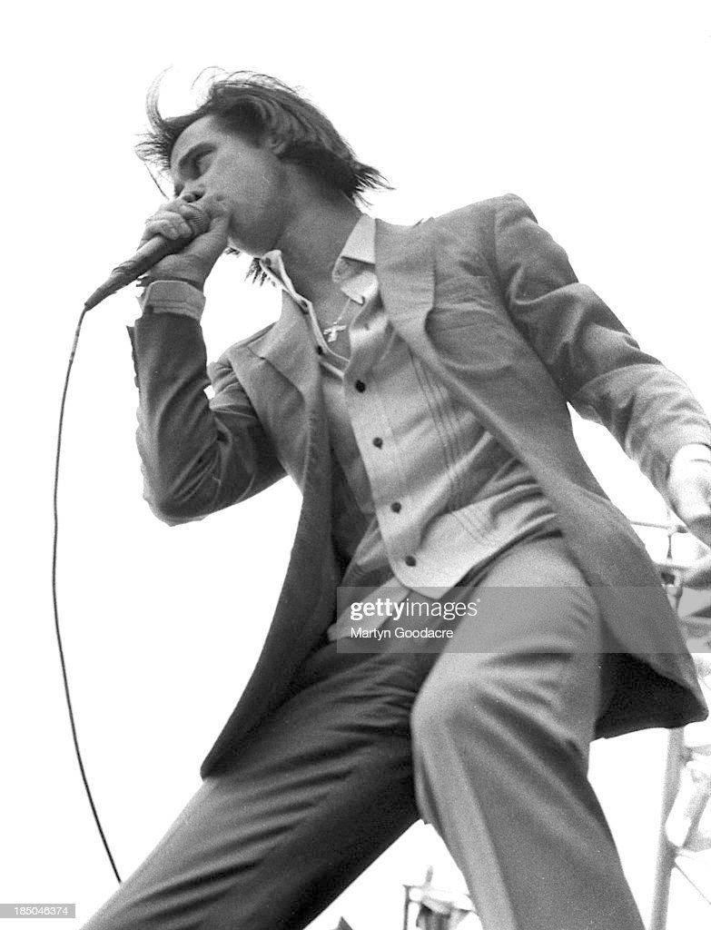 Nick Cave performs on stage in Germany Germany 1994