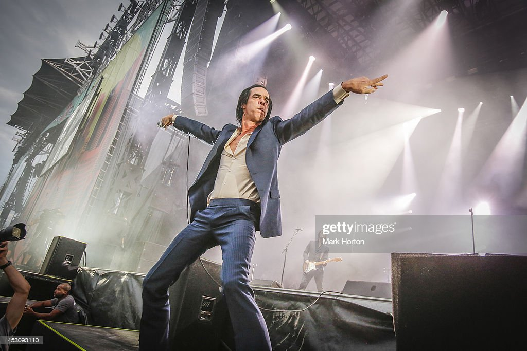 Nick Cave performs with Nick Cave and the Bad Seeds on Day 2 of the Osheaga Music and Art Festival on August 2 2014 in Montreal Canada