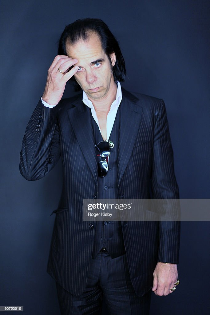 Nick Cave poses for a portrait at the ATP New York 2009 festival at the Kutsher's Country Club on September 12 2009 in Monticello New York