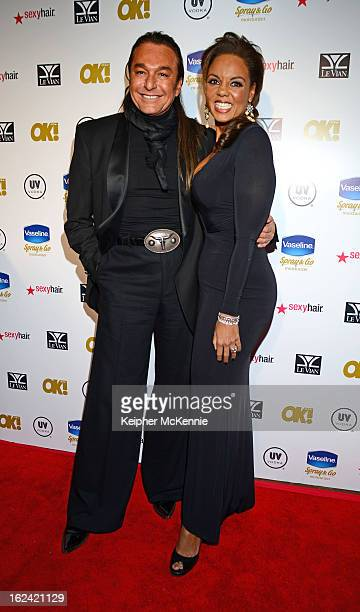 Nick Chavez and Hadiya Hohmann step on the red carpet at OK Magazine PreOscar Party Arrivals at The Emerson Theatre on February 22 2013 in Hollywood...