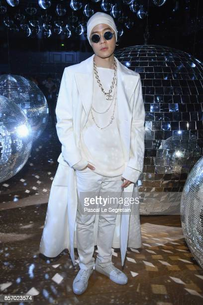 Nick Chou attends the Moncler Gamme Rouge show as part of the Paris Fashion Week Womenswear Spring/Summer 2018 on October 3 2017 in Paris France